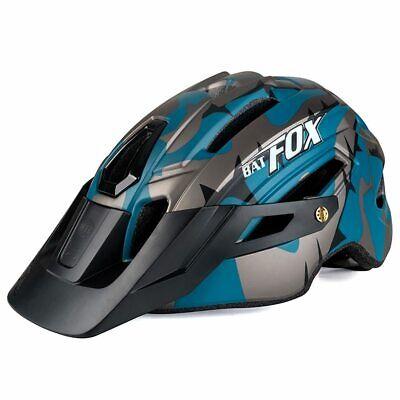 BATFOX Bicycle Helmet Black Ink Green Cycling Helmets MTB Road Mountain Bike