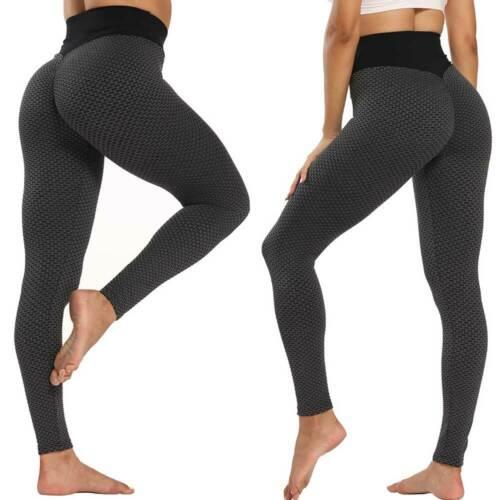 Womens High Waist Yoga Pants Push Up Sports Gym Leggings Fitness Trousers Booty