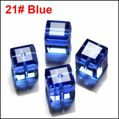 Beads Making DIY Cube Wholesale Crystal Loose Glass 4mm 6mm Beads Fit Jewelry