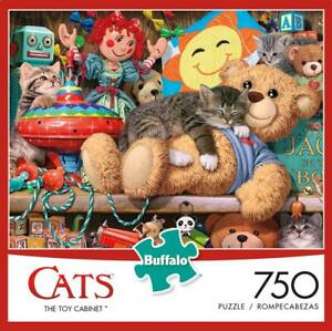BUFFALO-GAMES-CATS-COLLECTION-PUZZLE-THE-TOY-CABINET-STEVE-READ-750-PCS-17274