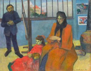 Fine-Art-Print-on-Canvas-Giclee-Schuffenecker-Studio-Paul-Gauguin-Reproduction-S