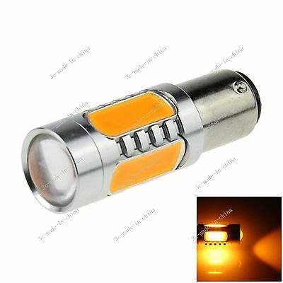 1X Yellow 1157 BAY15D 5 COB LED Brake Turn Signal Rear Light Bulb Lamp E024