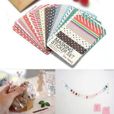 27X Washi Scrapbook Basic Masking Tape Stickers Pack Labellings Craft