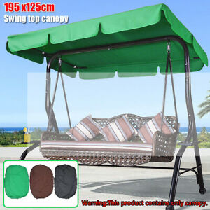 3 Seat Outdoor Patio Swing Replacement Canopy Waterproof