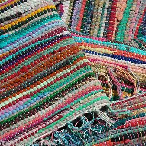 Fair Trade Indian Rag Rug 90 X 150cm 3