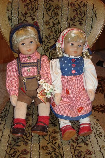 Käthe Kruse Puppenpaar  Erste Liebe