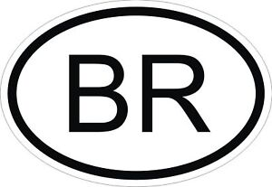 Image Is Loading Br Brazil Country Code Oval Sticker Per Decal