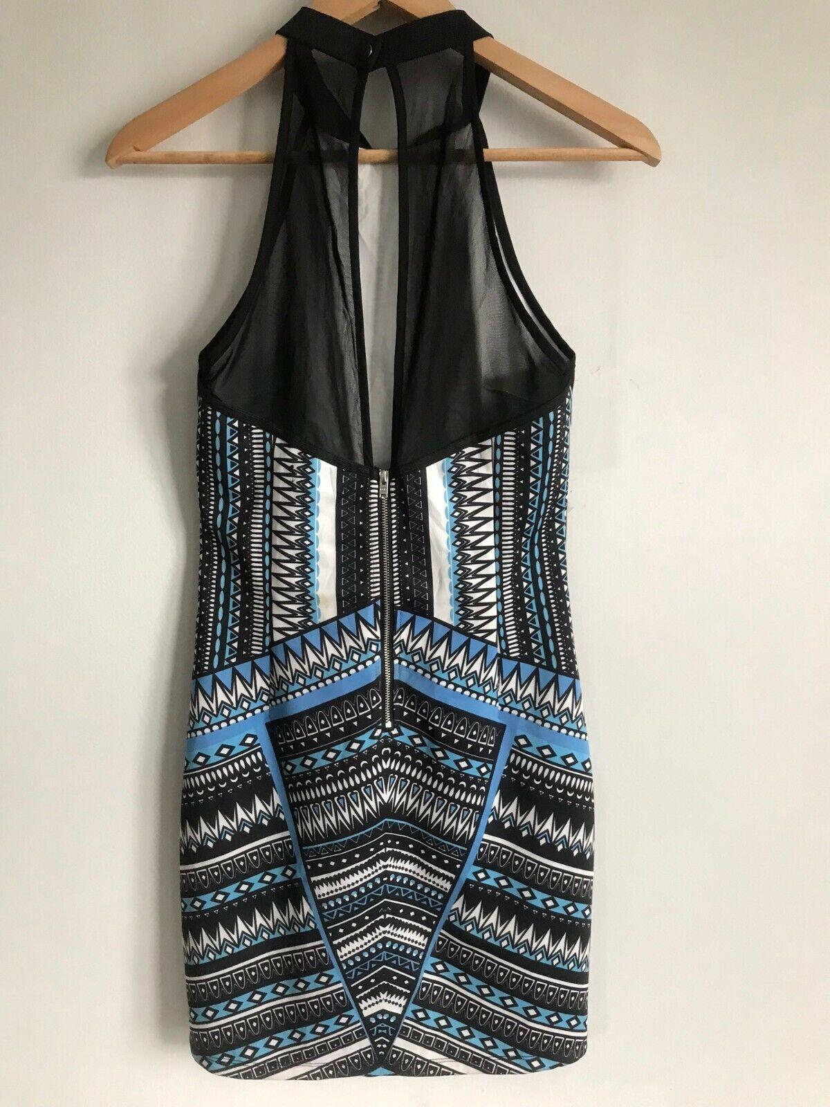 Dotti Mini Short Dress Multi-Color Aztec Print Ro… - image 5