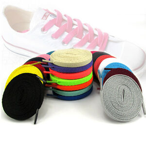 1pair Shoelaces Colorful Coloured Flat Round Bootlace Sneaker Shoe Strings