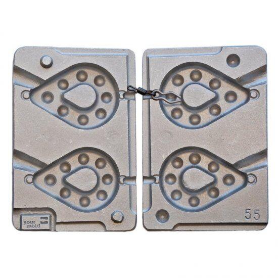 Stampo in alluminio per 2 a forma di pera pacco pesi 150170 grammo
