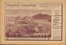 ZILLERTHAL, Werbung 1892, Erdmannsdorfer AG Flachsgarn-Maschinen-Spinnerei Weber