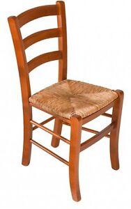 Sedie In Legno Ciliegio.Sedia In Legno Paglia Ciliegio Cucina Classica Ordine Minimo 4 Pezzi