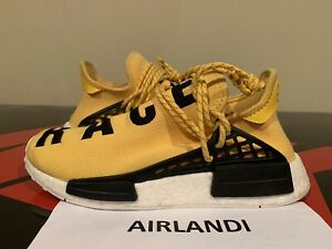 finest selection 0c32a feab1 Details about ADIDAS PW HUMAN RACE NMD PHARRELL SIZE 7.5 YELLOW BLACK WHITE  BB0619