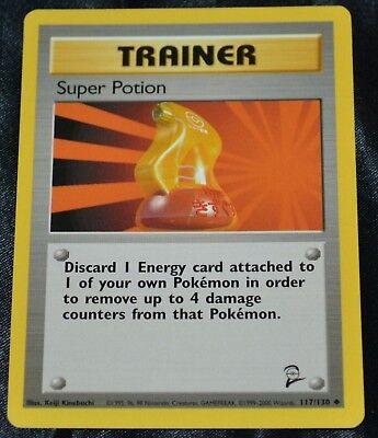 Pokemon Base Set 2 Uncommon Card #117//130 Super Potion
