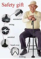 Adjustable Height Walking Cane Self Standing Folding With Led Handle Light