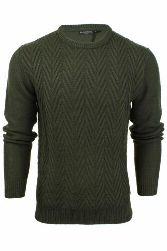 Men/'s Fashion Jumper Chevron Knit by Brave Soul
