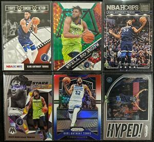 Lot-of-6-Karl-Anthony-Towns-Including-Will-to-Win-green-Prizm-RWB-amp-inserts