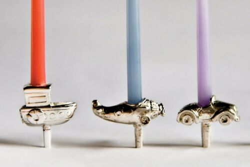 Mixed Transport Vivi Silver Plated Cake Candle Holder Single or Set of 5