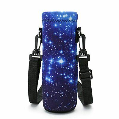 1L Water Bottle Carrier Holder Sleeve 34oz//1000ml Adjustable Shoulder Strap,Sli