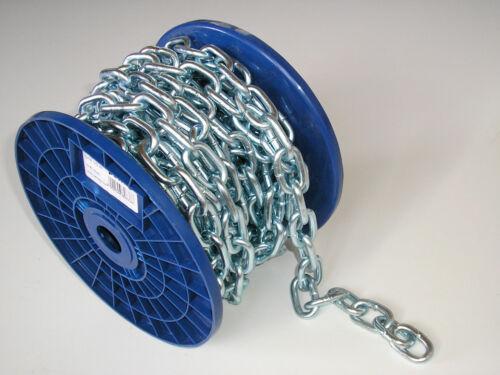 Rundstahlkette kurzgliedrig 10 m 6 mm Stahlkette Eisenkette verzinkt DIN 5685-A