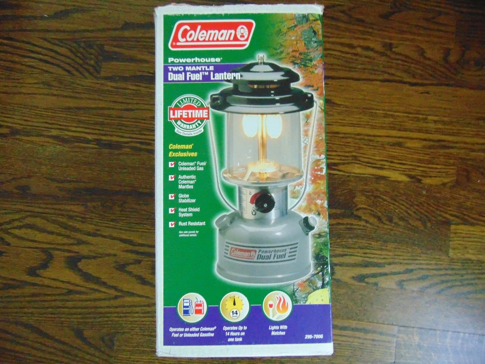 COLEMAN TWO MANTLE DUAL FUEL LANTERN 700G NEW   famous brand