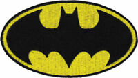 Dc Comics Batman Logo Embroidered Jacket Patch 6 X 10.5