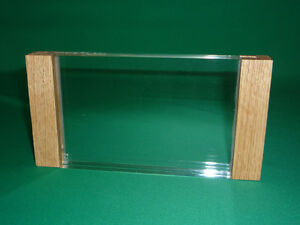 Solid Wood (Oak) and Acrylic 4x6 Picture Frame 1 inch Thick Block