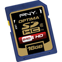 Pny 16g Sd Card For Kodak Playsport Zx3 Zx5 Zi10 Alesis Zoom Q3hd Olympus 20m