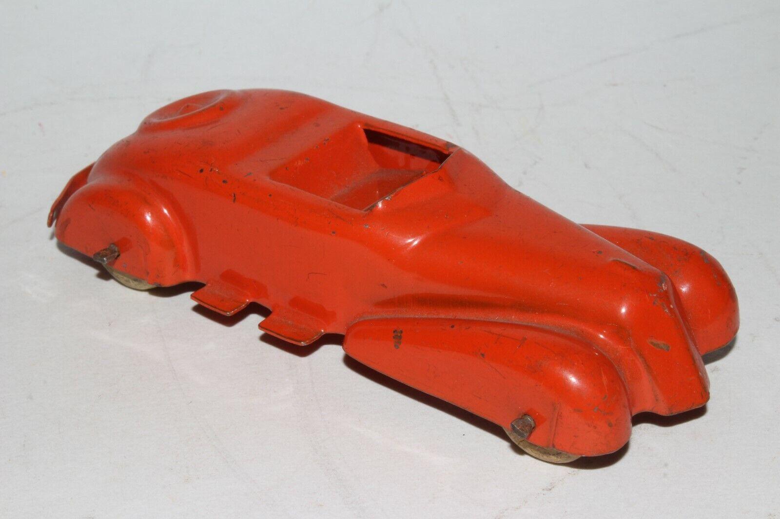 1930's Wyandotte Pressed Steel ConGrünible Coupe, Orange, Nice Original