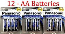 12 Wholesale Panasonic AA Double A Batteries heavy Duty Battery 1.5v Bulk lot