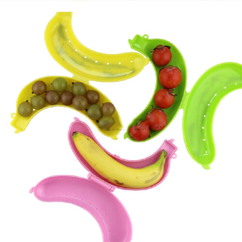 3 Color Fruit Banana Protector Box Holder Case Lunch Container Storage 19cmU*bp