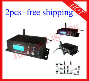2pcs Wireless DMX512 Transmitter And Receiver Light Controller Free Shipping