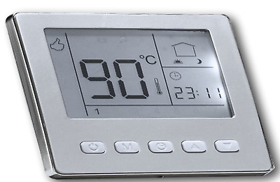 Digital Thermostat Raumthermostat Silber Programmierbar