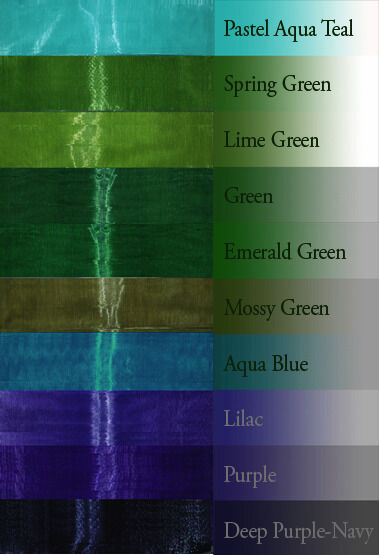 "4-yd 1"" inch ORGANZA ribbon pastel royal navy blue hunter green lime teal lilac"