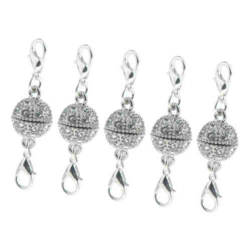 5Pcs Crystal Magnetic Clasps Converter Necklace Bracelet Clasp DIY Findings
