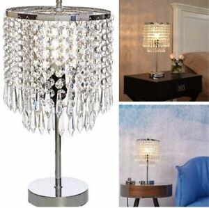 17 Chrome Crystal Chandelier Bedside, Bedside Table Chandelier Lamps