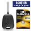 Coque-Plip-Cle-pour-Telecommande-Peugeot-106-306-406-107-207-307-Pile-DURACELL miniature 1