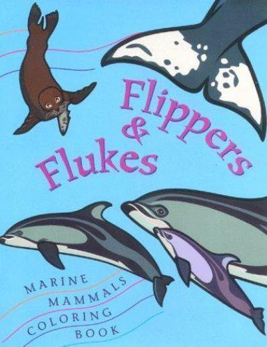 Flipper & Flukes Marine Mammals Coloring Book Coulombe, Deborah Paperback Used