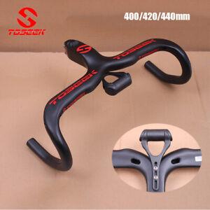TOSEEK Carbon Fiber Integrated Handlebar Stem Ultralight Racing Road Bike Bar