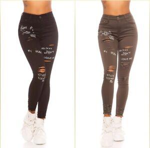 Jeans Denim High Waist Ladies Skinny Jeans Used Look With