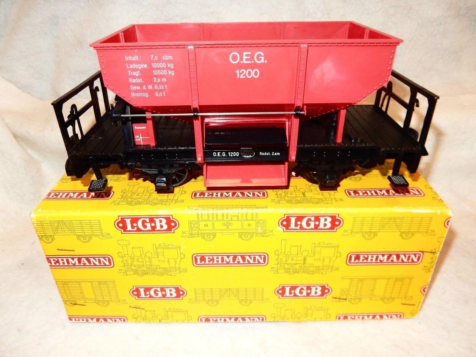 LGB  4041 OEG Btuttiast Hopper wagon 2 axle for G scale freight gituttio  scatolaNice