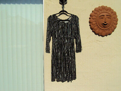 Nwt Black And White Print Maternity Dress Size Small Ebay