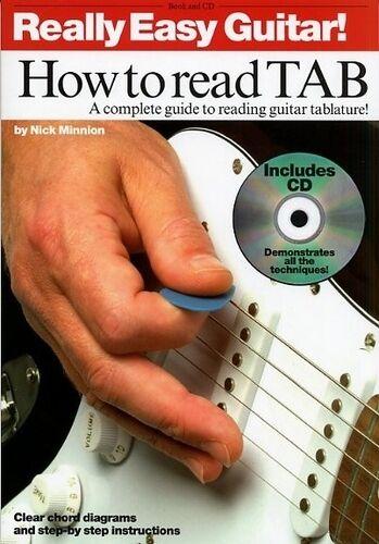 1 of 1 - Really Easy Guitar! How To Read TAB Guitar Tab Sheet Music, CD Instrumental Tuto