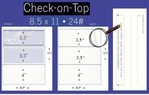 Checks on Top Linen Gold 500 Blank Security Check Paper Stock