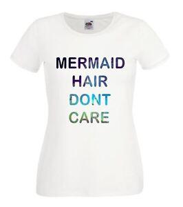 Ladies-White-Mermaid-Hair-Dont-Care-Festival-Fashion-Galaxy-Boho-T-Shirt