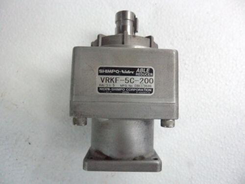 Shimpo Able Nidec Gear VRKF-5C-200 GUARANTEE GOOD ACCURACY /<150ARC//Min