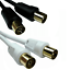 miniatuur 4 - Digital TV Aerial Cable 1m - 50m RF Coaxial Television Extension Gold / Fly Lead