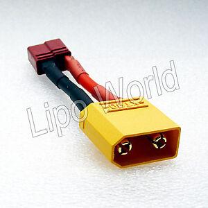 XT90-Stecker-auf-Deans-T-Buchse-12AWG-Adapter-Lade-Kabel-LiPo-Akku