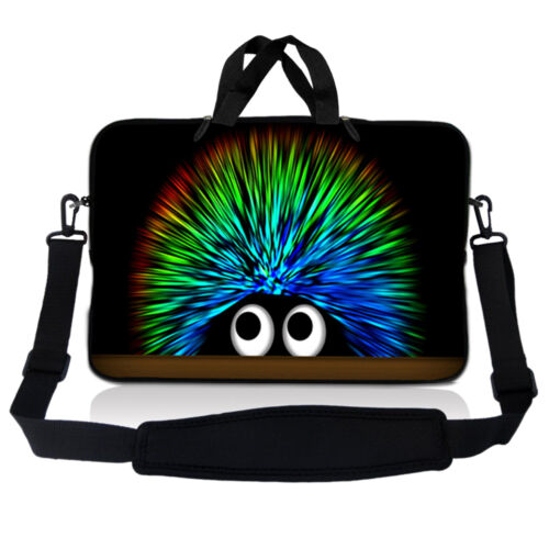 """15.6/"""" Laptop Sleeve w Shoulder Strap Bag Case Fits 15 15.4 15.6 Acer Dell Asus 2"""