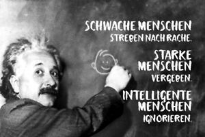 Albert Einstein Tafel Spruch 26 Blechschild Schild gewölbt Tin Sign 20 x 30 cm